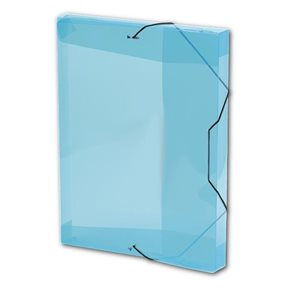 PP Krabice na spisy A4 3 klopy s gumou - modrá