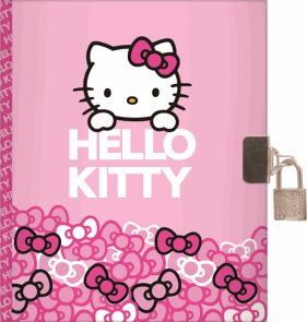 Karton PP Deník se zámečkem  A5 - Hello Kitty