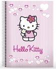 Karton PP Blok s dvojitou boční spirálou A5 - Hello Kitty