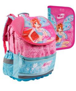 Školní batoh PLUS + penál - Winx