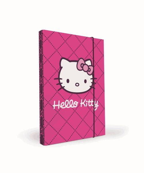 Karton PP Desky na sešity s boxem A4 - Hello Kitty