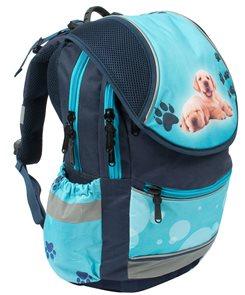 Školní batoh PLUS - Pes - modrá