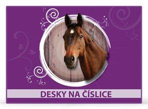 Karton PP Desky na číslice - Kůň vzor 2014