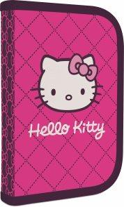 Školní penál - 1 patrový s chlopní - Hello Kitty