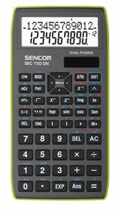 Kalkulačka Sencor SEC 150 GN - šedozelená