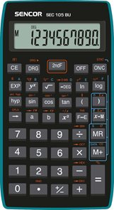 Kalkulačka Sencor SEC 105 BU - černomodrá