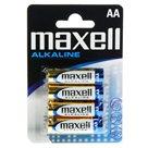 Maxell Alkalická tužková baterie AA - balení 4 ks blistr