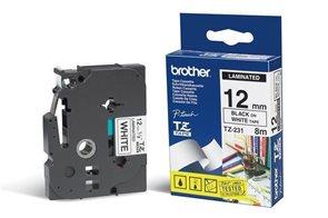 Páska Brother 12 mm × 8 m, bílá-černá
