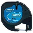 Páska DYMO Letratag 12 mm × 4 m, modrá, plast