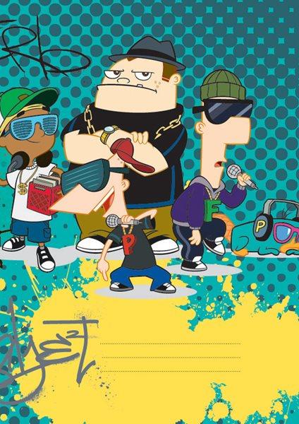 Školní sešit A4, 40 listů, linkovaný - Phineas & Ferb