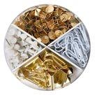 Herlitz Box kancelářských potřeb 4v1 Pure Glam - barva bílá a zlatá