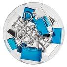 Herlitz Klip binder 12 ks, 3 velikosti Frozen Glam - barva modrá a stříbrná