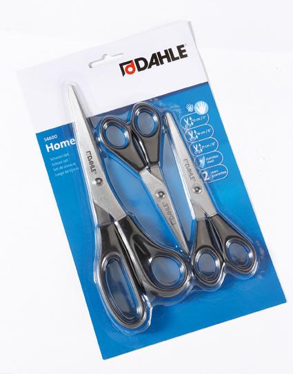 DAHLE Nerezové nůžky pro pro praváky - set 3 ks