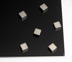 Super silné magnety - kvádr 10 × 10 × 5 mm, 6 ks