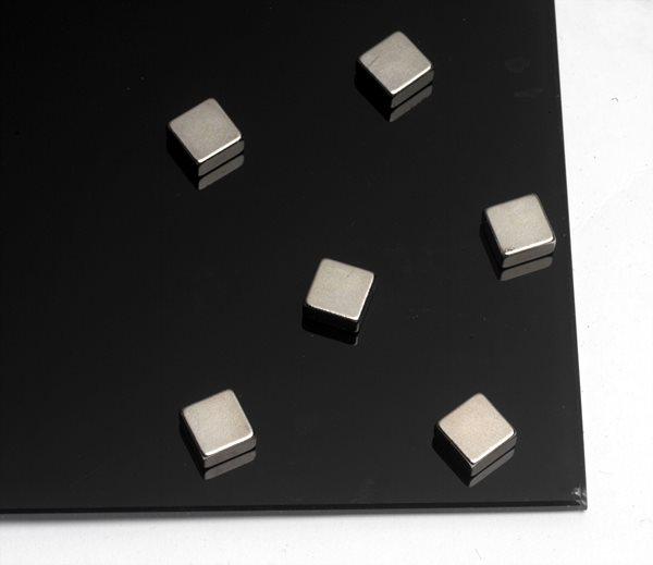 NAGA super silné magnety - kvádr, 10 x 10 x 5 mm, 6 ks