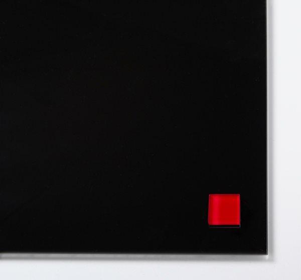 NAGA super silné magnety - sklo, 25 x 25 mm, červená, 2 ks