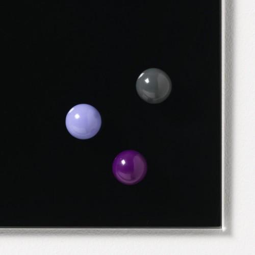 NAGA super silné magnety barevné 20 mm, 3 ks - fialová/šedá/tm. fialová