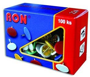 RON Připínáčky 100 ks - mix barev