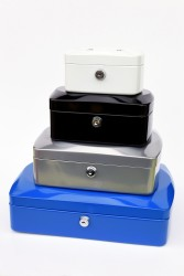 RON Kovová pokladna 20,5 × 16 × 8,5 cm - stříbrná