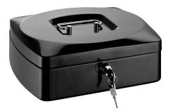 RON Kovová pokladna 25,5 × 20 × 9 cm - černá
