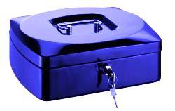 RON Kovová pokladna 25,5 × 20 × 9 cm - modrá
