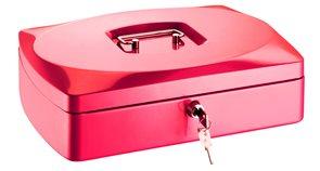 RON Kovová pokladna 33 × 23,5 × 9 cm - červená