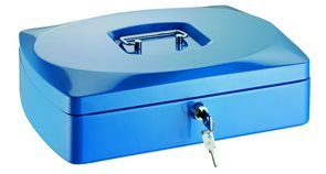 RON Kovová pokladna 33x23,5x9 cm - modrá
