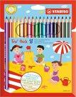 STABILO Trio Pastelky trojhranné silné - 18 barev