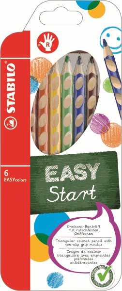 STABILO EASYcolors P Pastelky pro praváky - sada 6 barev