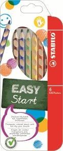 STABILO EASYcolors L Pastelky pro leváky - sada 6 barev