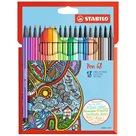 STABILO Pen 68 Vláknový fix - sada 18 barev
