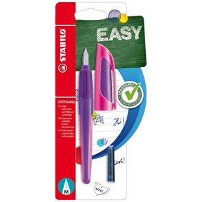 STABILO EASYbuddy Ergonomické školní plnicí pero, blistr - fialová/růžová
