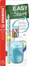 STABILO EASYgraph školní set L pro leváky - modrá (tužka HB, ořezávátko, pryž)