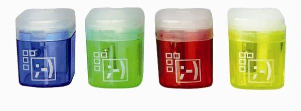 Spoko Ořezávátko jednoduché, s víkem a kontejnerem - mix barev