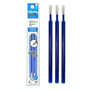 Náhradní náplň do gumovatelného pera Colorino 3 ks - modrá