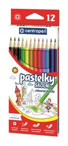 Centropen Školní pastelky - sada 12 barev