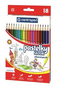 Centropen Školní pastelky - sada 18 barev
