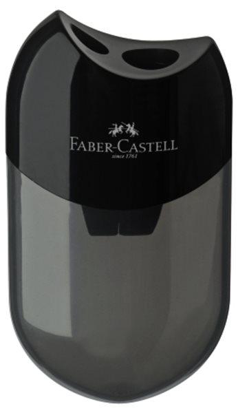 Ořezávátko Faber-Castell dvojité se zásobníkem - černá