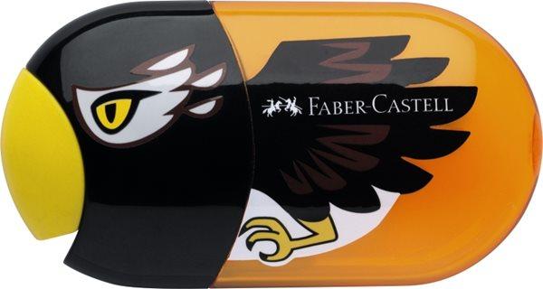 Ořezávátko Faber-Castell dvojité se zásobníkem a pryží - orel