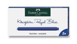 Inkoustové bombičky Faber-Castell 5 ks, dlouhé - modrá