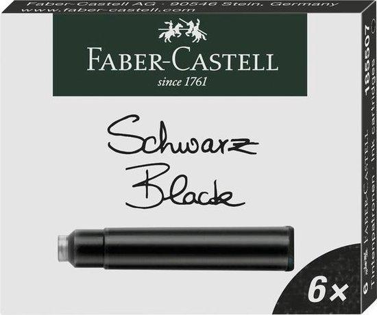 Inkoustové bombičky Faber-Castell 6 ks - černá