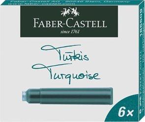 Inkoustové bombičky Faber-Castell 6 ks - tyrkysová