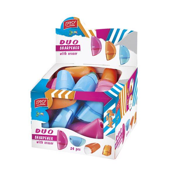 EASY Ořezávátko DUO s gumou - mix barev
