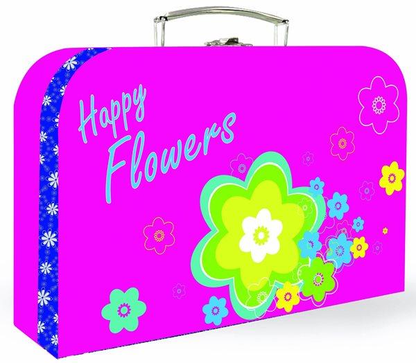 """Karton PP Dětský kufřík 35"""" - Premium květiny"""