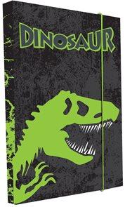 Karton PP Desky na sešity s boxem A4 - Dinosaurus vzor 2015