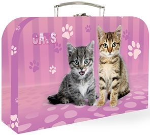 """Karton PP Dětský kufřík 35"""" - Kočka"""