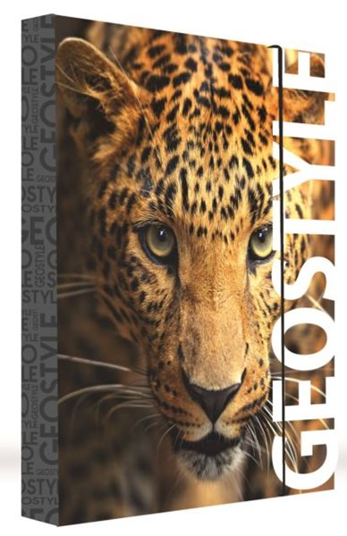 Karton PP Desky na sešity s boxem JUMBO A4 - Leopard