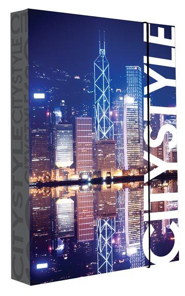 Karton PP Desky na sešity s boxem JUMBO A4 - Hongkong