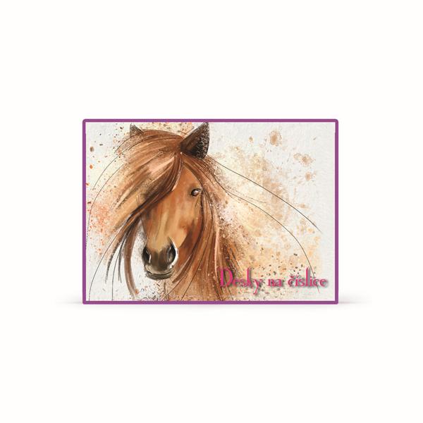 Karton PP Desky na číslice - Kůň 2016