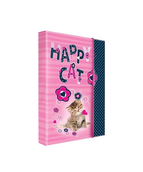 Karton PP Desky na sešity s boxem A5 - Happy Cats